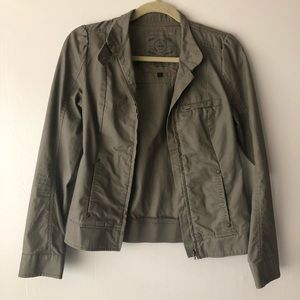 Vans Army Olive Green Collared Zip Up Jacket SizeM